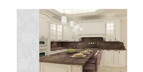 Проект интерьера дома в классическом стиле